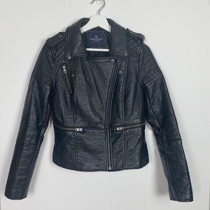 American Eagle Faux Leather Biker Jacket